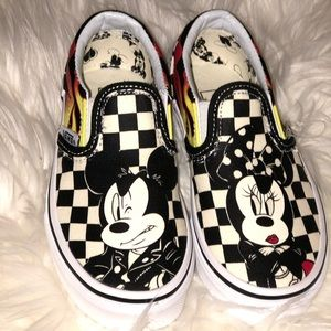 MICKEY MOUSE AND MINNIE MOUSE/CHECKER FLAME Vans